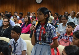 Girl Student gave her comments about the Vigyan Pratibha activities