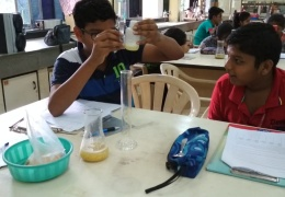 Summer camp at HBCSE for AECS students May and June 2018